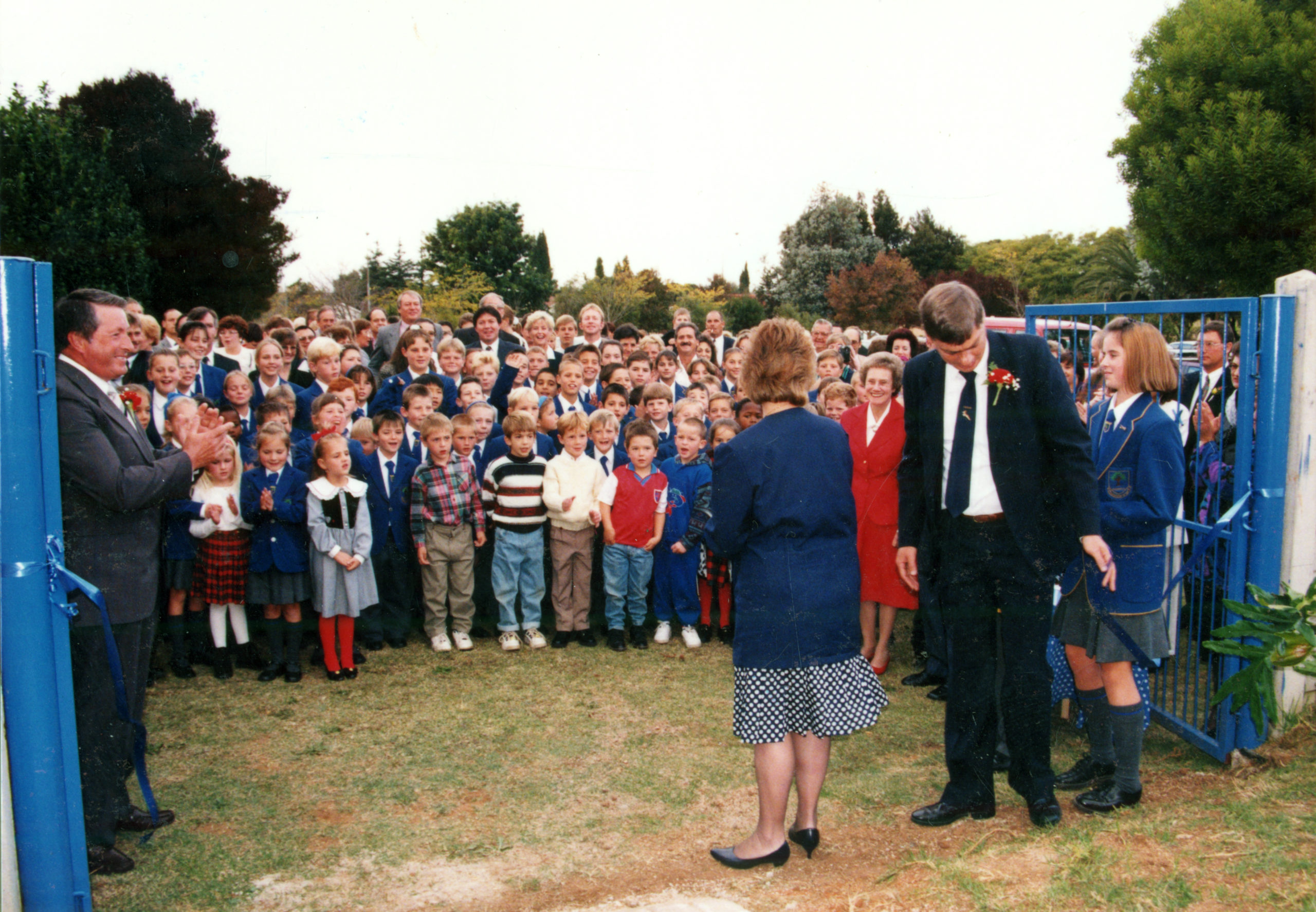 Students and Staff of Shanghai-la academy soon after the school opened.